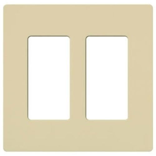 Lutron Dimmer Controls Screwless Two-gang Wallplate CW-2-IV