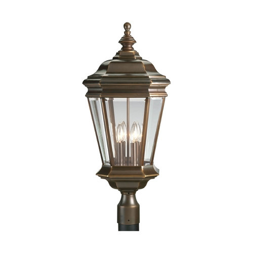 Progress Lighting Progress Post Light with Clear Glass in Oil Rubbed Bronze Finish P5474-108