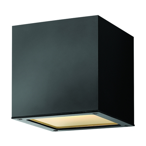 Hinkley Lighting Modern Outdoor Wall Light with Etched in Satin Black Finish 1766SK