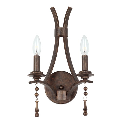 Crystorama Lighting Crystorama Lighting Parson English Bronze Sconce 9352-EB