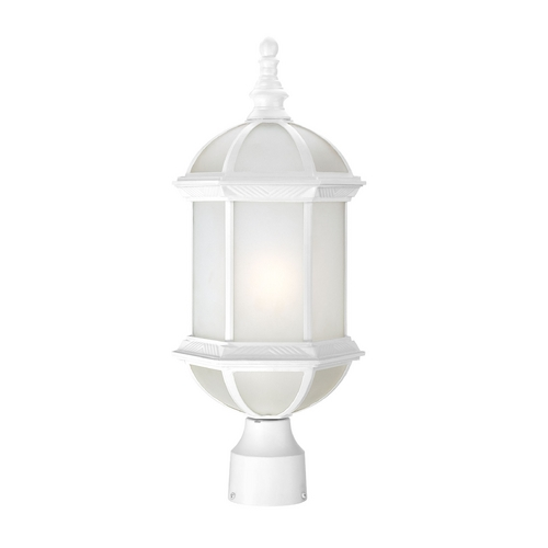 Nuvo Lighting Post Light with White Glass in White Finish 60/4994