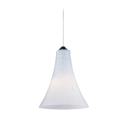 ET2 Lighting Minx Satin Nickel Mini-Pendant Light with Bell Shade E94334-105SN