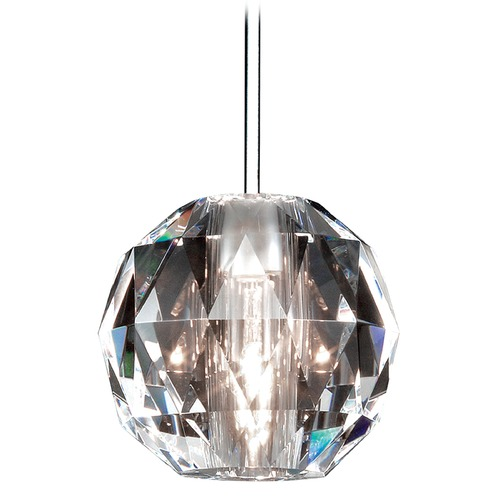 WAC Lighting Wac Lighting Crystal Collection Chrome Mini-Pendant with Globe Shade MP-930-CL/CH