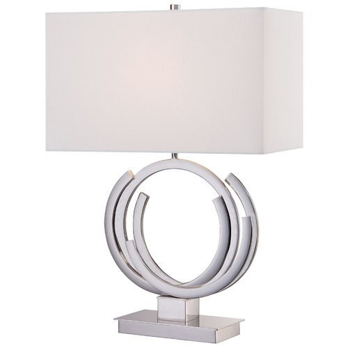 George Kovacs Lighting George Kovacs Portables Polished Nickel Table Lamp with Rectangle Shade P1600-613