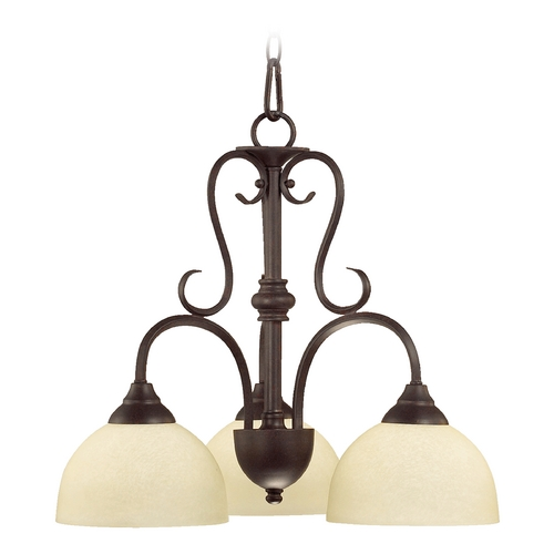 Quorum Lighting Quorum Lighting Powell Toasted Sienna Chandelier 6408-3-44