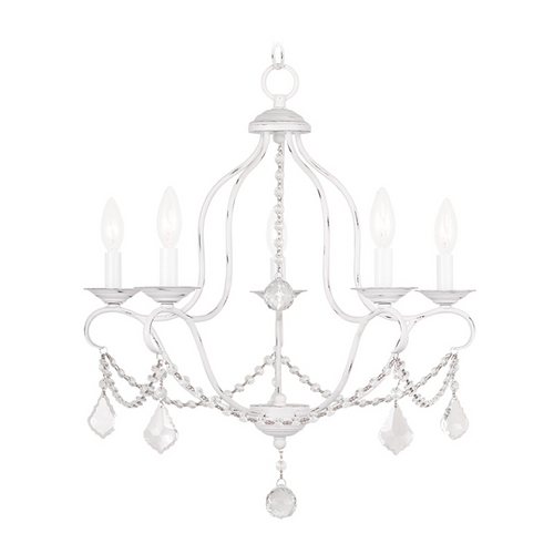 Livex Lighting Livex Lighting Chesterfield Antique White Crystal Chandelier 6435-60