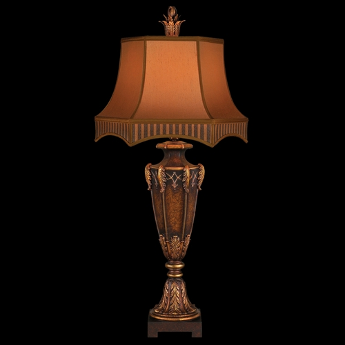 Fine Art Lamps Fine Art Lamps Brighton Pavillion Aged Bronzed Sienna with Golden Accents Table Lamp with Bell Shade 305410ST