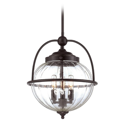 Savoy House Savoy House Lighting Banbury English Bronze W/ Gold Pendant Light with Globe Shade 7-461-3-213