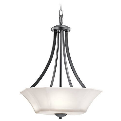 Kichler Lighting Kichler Lighting Serena Pendant Light with Bowl / Dome Shade 43635BK