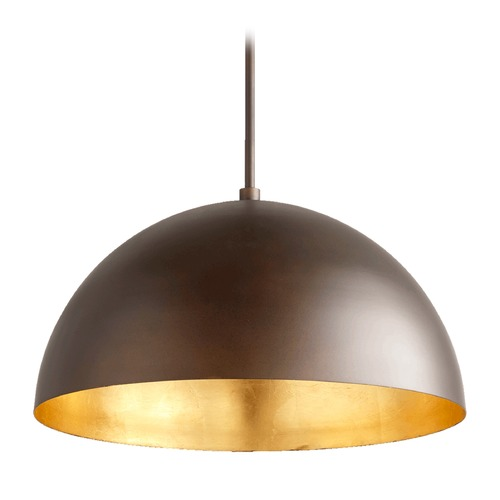 Quorum Lighting Quorum Lighting Oiled Bronze Pendant Light with Bowl / Dome Shade 8020-7486