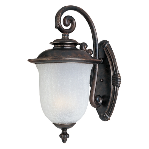 Maxim Lighting Outdoor Wall Light with White Glass in Chocolate Finish 3094FCCH