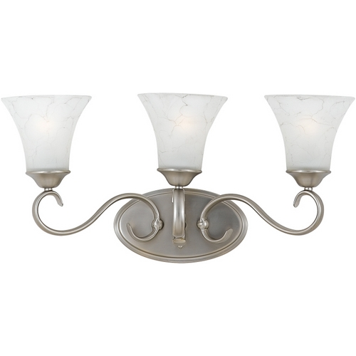 Quoizel Lighting Bathroom Light with Grey Glass in Antique Nickel Finish DH8603AN