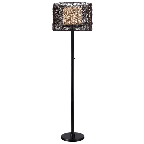 Kenroy Home Lighting Floor Lamp with Brown Shade in Bronze Finish 32220BRZ