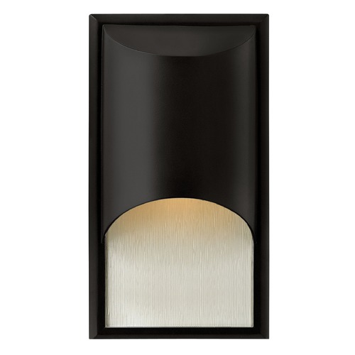 Hinkley Lighting Modern LED Outdoor Wall Light with Etched in Satin Black Finish 1830SK-LED