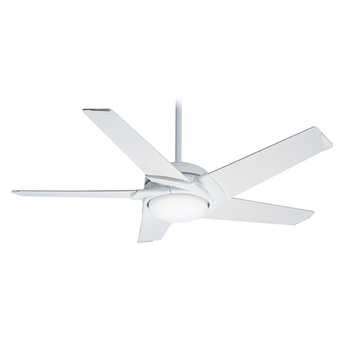 Casablanca Fan Co Casablanca Fan Stealth Snow White LED Ceiling Fan with Light 59091