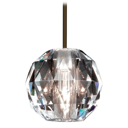 WAC Lighting Wac Lighting Crystal Collection Dark Bronze Mini-Pendant with Globe Shade MP-930-CL/DB