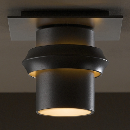 Hubbardton Forge Lighting Hubbardton Forge Lighting Twilight Burnished Steel Close To Ceiling Light 364901-08-CTO