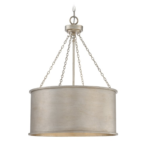 Savoy House Savoy House Lighting Rochester Silver Patina Pendant Light with Drum Shade 7-487-4-53