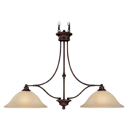 Capital Lighting Capital Lighting Belmont Burnished Bronze Island Light with Bowl / Dome Shade 3417BB