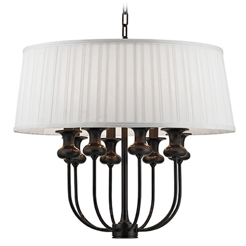 Hudson Valley Lighting Pembroke 8 Light Pendant Light Drum Shade - Old Bronze 5408-OB