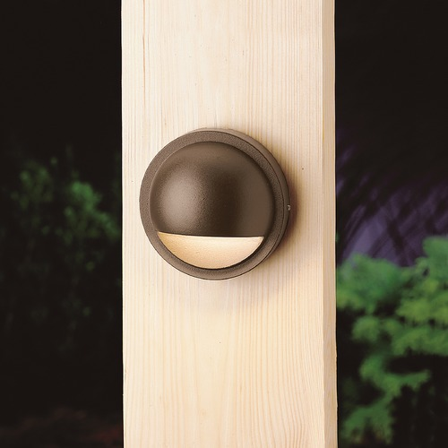 Kichler Lighting Kichler Lighting Textured Architectural Bronze LED Deck Light 15764AZT27R