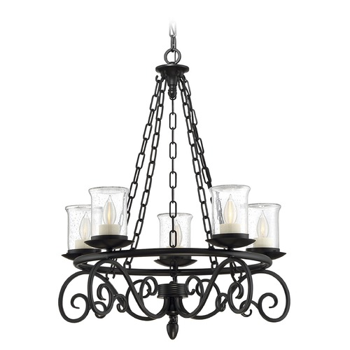 Savoy House Savoy House Lighting Welch Black Outdoor Chandelier 1-1121-5-BK