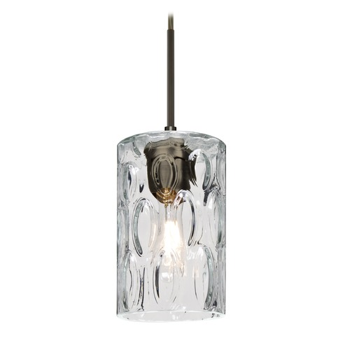 Besa Lighting Besa Lighting Cruise Bronze Mini-Pendant Light with Cylindrical Shade 1JT-CRUSCL-BR