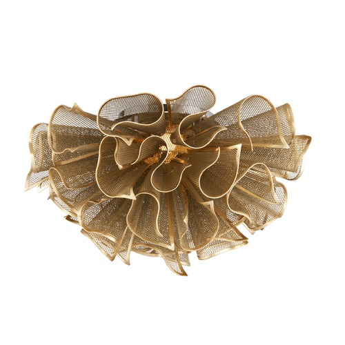 Corbett Lighting Corbett Lighting Pulse Gold Leaf LED Semi-Flushmount Light 218-31
