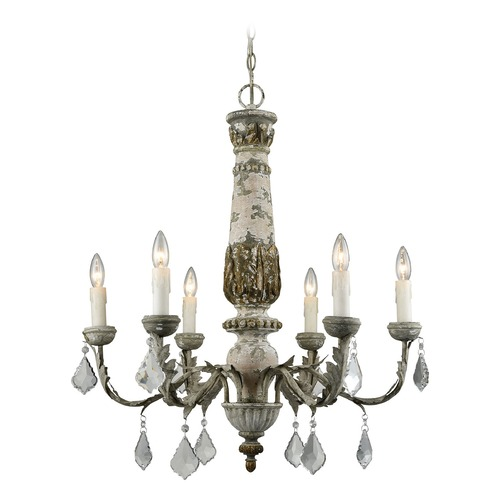 Dimond Lighting Dimond Genevi???ve Aged Cream and Iron Chandelier 1202-005