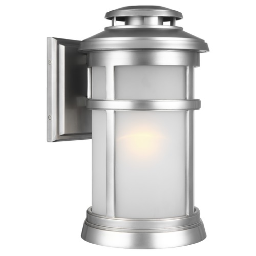 Feiss Lighting Feiss Lighting Newport Painted Brushed Steel Outdoor Wall Light OL14302PBS