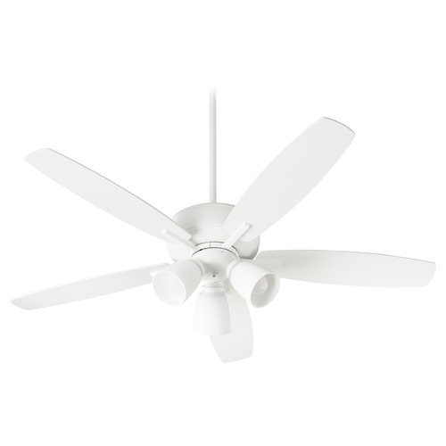 Quorum Lighting Quorum Lighting Breeze Studio White LED Ceiling Fan with Light 70525-308