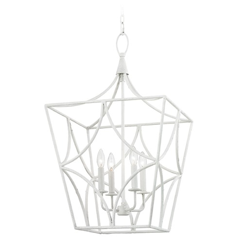 Hudson Valley Lighting Hudson Valley Lighting Green Point White Plaster Pendant Light 4818-WP