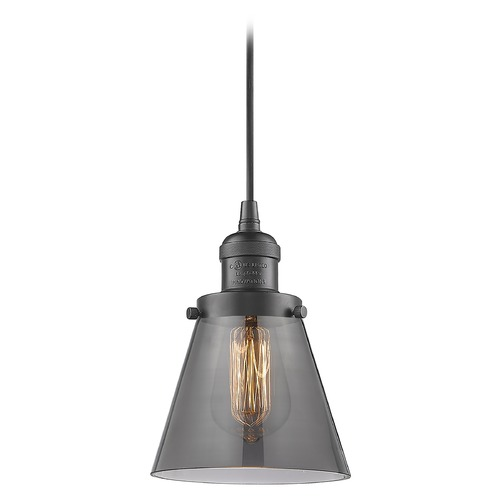 Innovations Lighting Innovations Lighting Small Cone Oil Rubbed Bronze Mini-Pendant Light with Conical Shade 201C-OB-G63