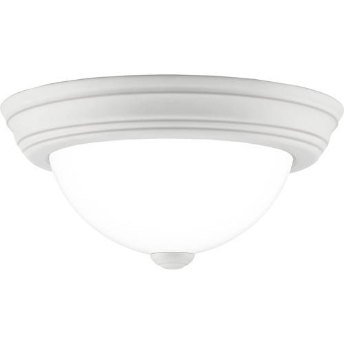 Quoizel Lighting Quoizel Lighting Erwin White Lustre Flushmount Light ERW1611W