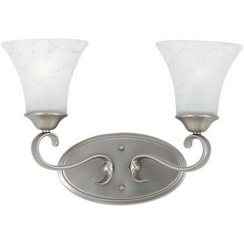 Quoizel Lighting Bathroom Light with Grey Glass in Antique Nickel Finish DH8602AN