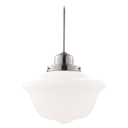 Hudson Valley Lighting Pendant Light with White Glass in Satin Nickel Finish 19-SN-1615