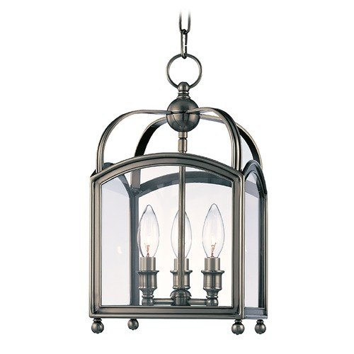 Hudson Valley Lighting Mini-Pendant Light with Clear Glass in Historic Nickel Finish 8409-HN