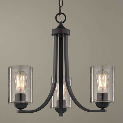 Design Classics Lighting Design Classics Dalton Fuse Neuvelle Bronze Mini-Chandelier 5843-220 GL1041C