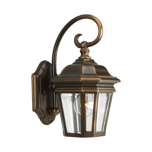 Progress Lighting Progress Oil Rubbed Bronze Outdoor Wall Light with White Glass P5670-108