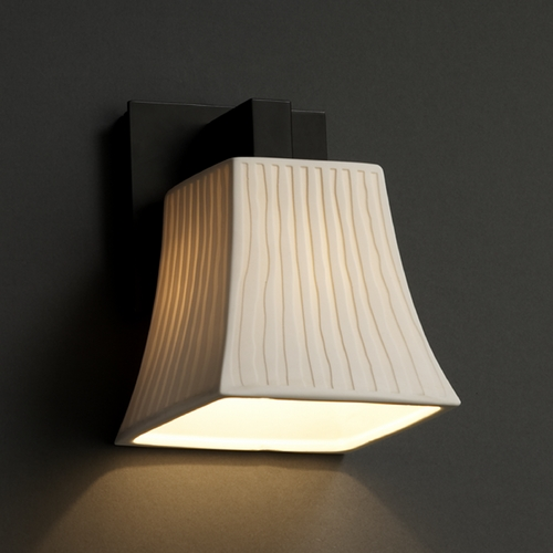 Justice Design Group Justice Design Group Limoges Collection Sconce POR-8921-40-WFAL-MBLK