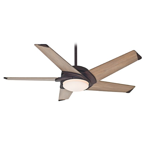 Casablanca Fan Co Casablanca Fan Stealth Industrial Rust LED Ceiling Fan with Light 59092