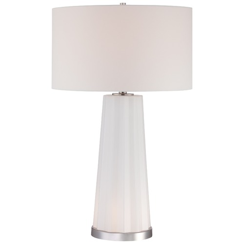 George Kovacs Lighting George Kovacs Portables Polished Nickel Table Lamp with Cylindrical Shade P1602-613