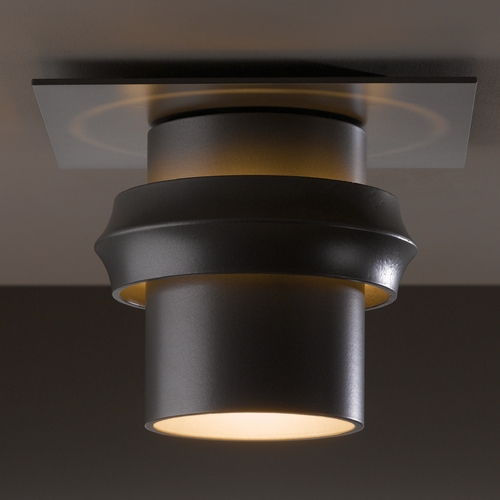 Hubbardton Forge Lighting Hubbardton Forge Lighting Twilight Burnished Steel Close To Ceiling Light 364903-08-CTO