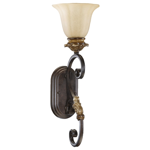 Quorum Lighting Quorum Lighting Capella Toasted Sienna with Golden Fawn Sconce 5401-1-44
