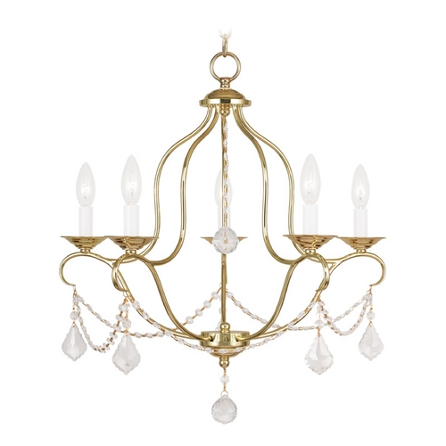 Livex Lighting Livex Lighting Chesterfield Polished Brass Crystal Chandelier 6435-02