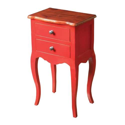 Sterling Lighting Sterling Lighting Light Brown Top / Red Body Coffee & End Table 6500000