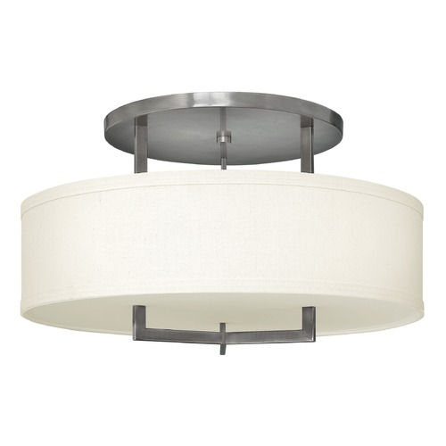 Hinkley Lighting Hinkley Lighting Hampton Antique Nickel Semi-Flushmount Light 3211AN-GU24