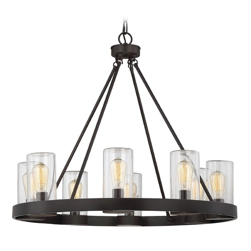 Savoy House Savoy House Lighting Inman English Bronze Outdoor Chandelier 1-1130-8-13
