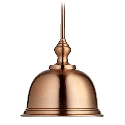 Quorum Lighting Quorum Lighting Satin Copper Pendant Light with Bowl / Dome Shade 803-12-49