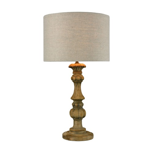 Dimond Lighting Dimond Haute-Vienne Natural Stain Table Lamp with Drum Shade 1202-006